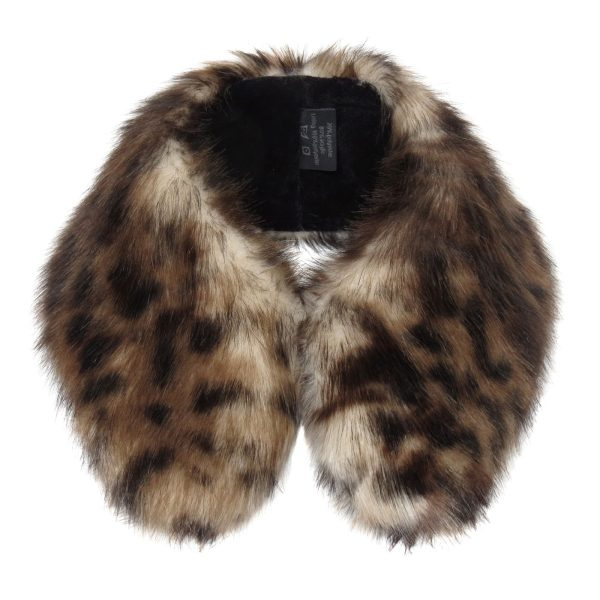 Ocelot Faux Fur Shirt Collar