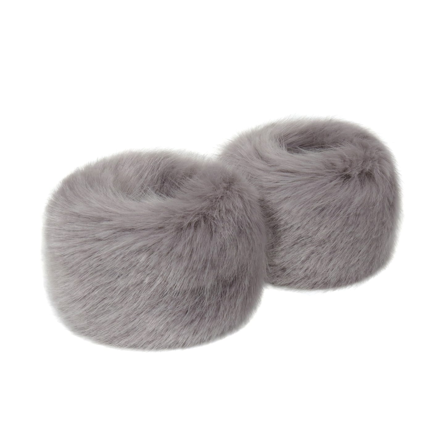 Opal Faux Fur Wrist Warmers