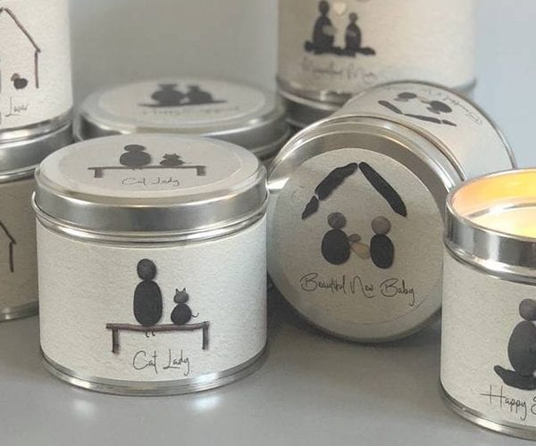 Pebble People Tin Candles