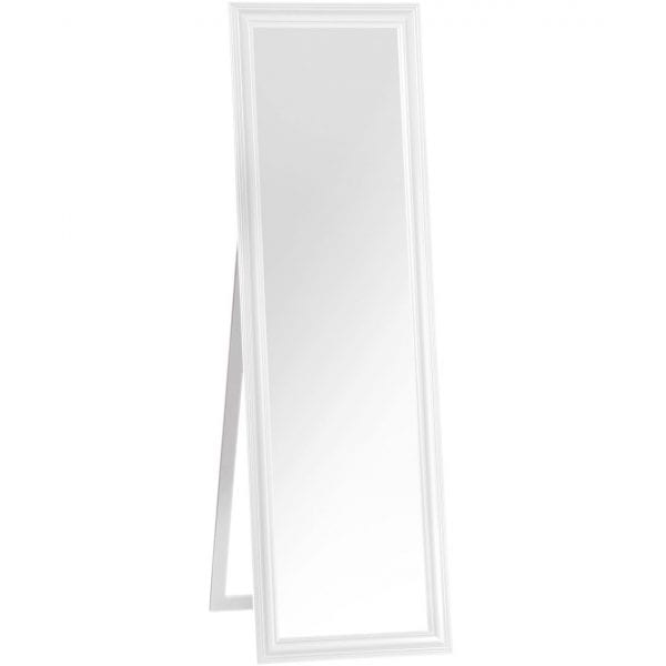 Plockton White Floor Standing Mirror
