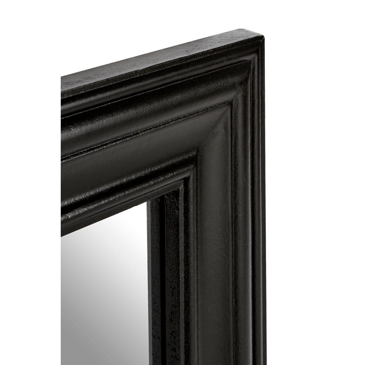 Regatta Black Wooden Framed Wall Mirror