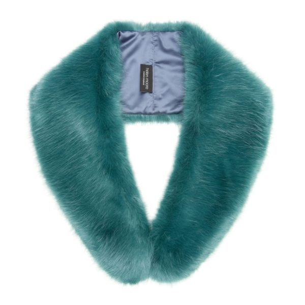 Sea Green Faux Fur Hugo Collar