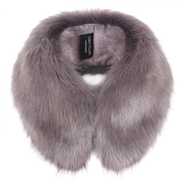 Steel Faux Fur Shirt Collar