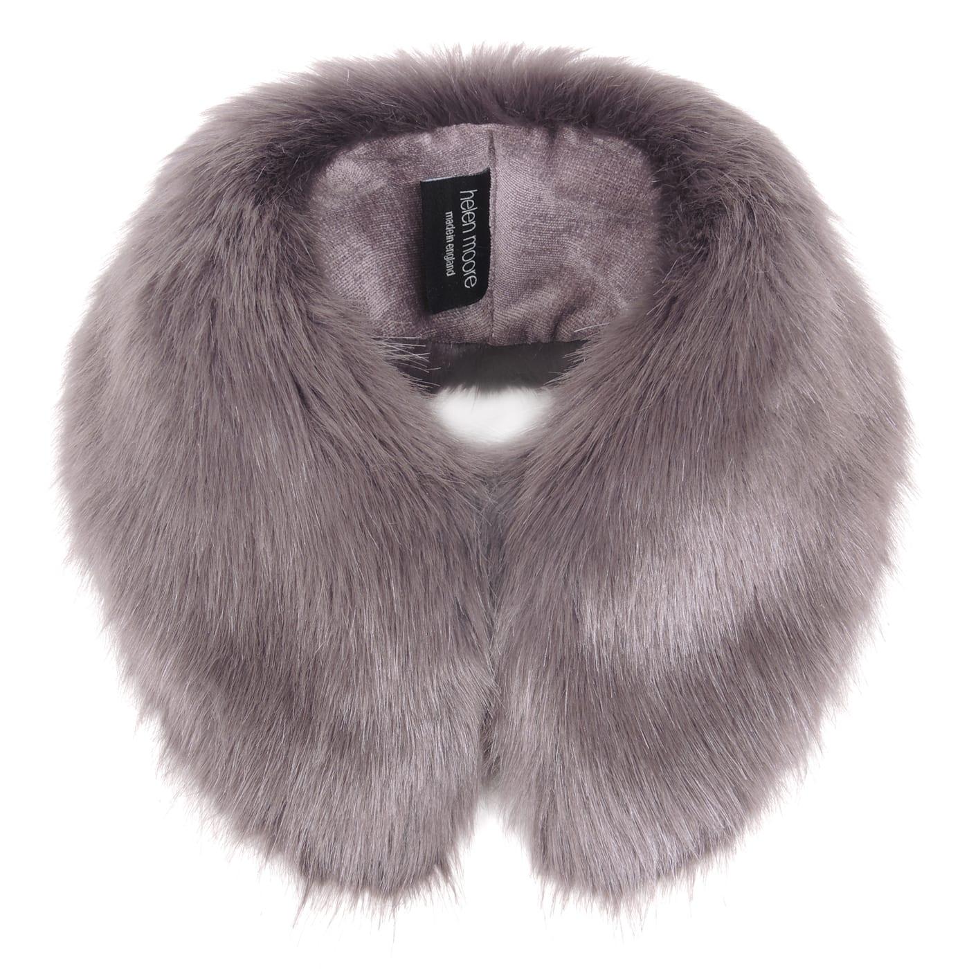 Steel Faux Fur Shirt Collar