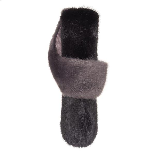 Steel & Jet Faux Fur Petite Loop Scarf