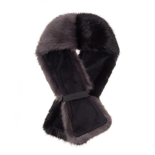 Steel & Jet Faux Fur Two Tone Tippet Scarf