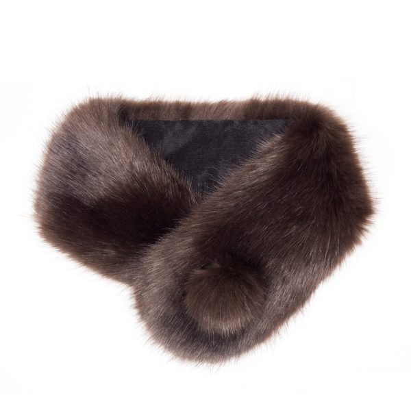 Treacle Faux Fur Pom Button Collar
