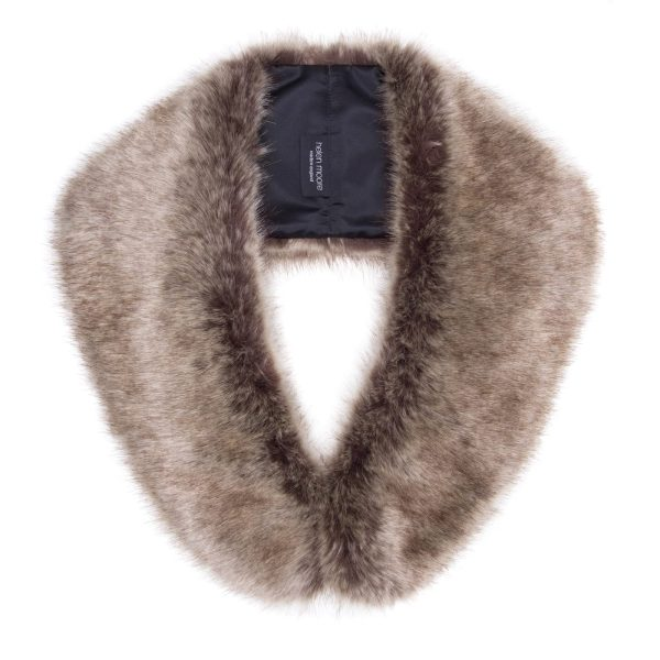 Truffle Faux Fur Hugo Collar 1
