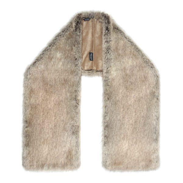 Truffle Faux Fur Stole