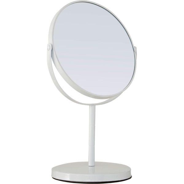 White Metal Swivel Large Table Mirror