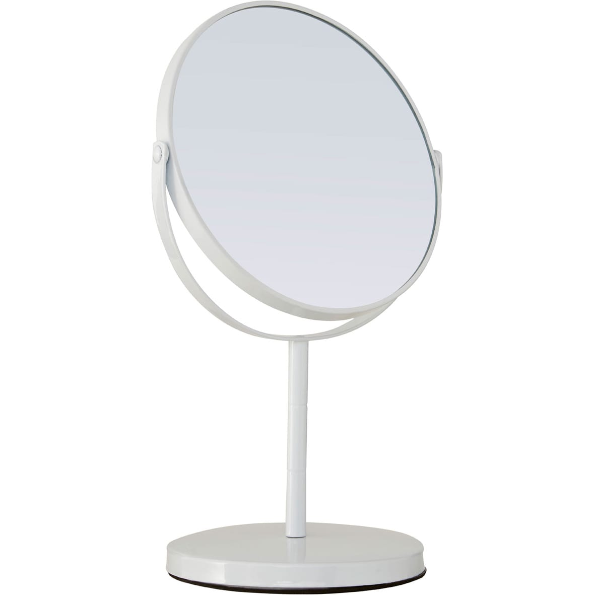 White Metal Swivel Large Table Mirror