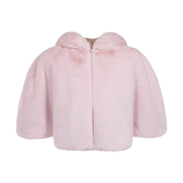 Blossom Cloud Faux Fur Hooded Cape