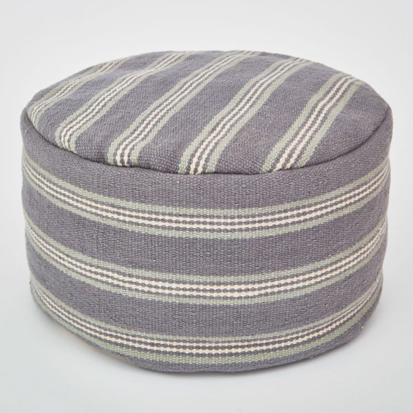 Clay Henley Stripe Footstool