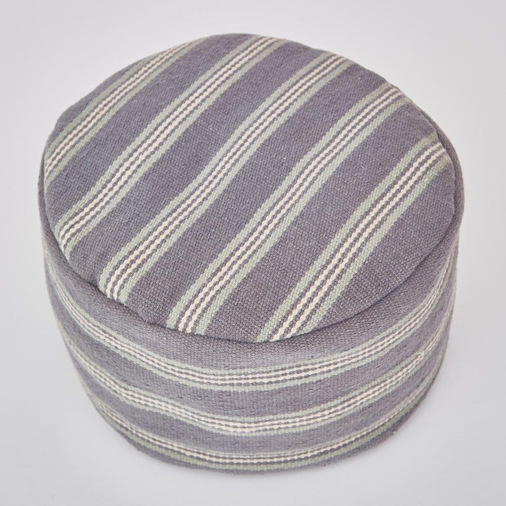 Clay Henley Stripe Footstool