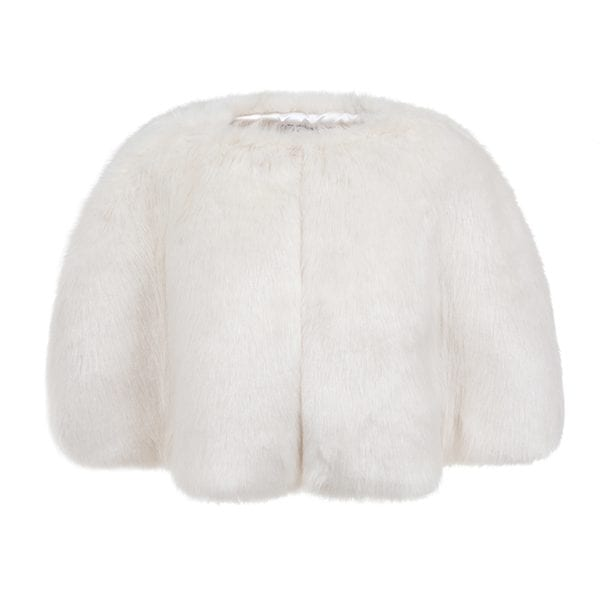 Ermine Faux Fur Cape
