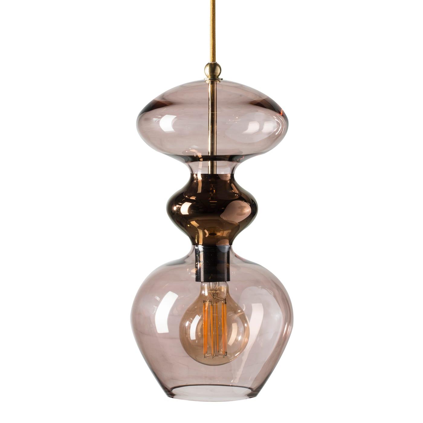 Futura Pendant Lamp, Obsidian, 37cmH