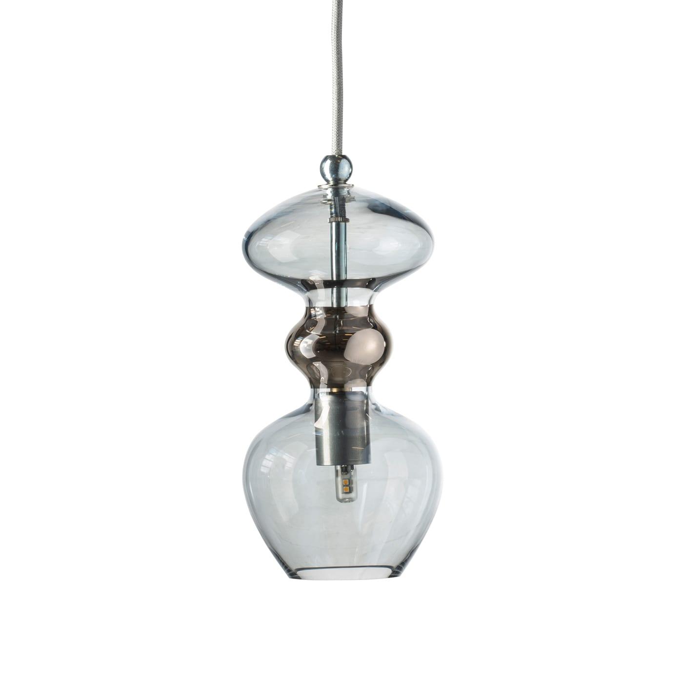 Futura Pendant Lamp, Topaz Blue/Platinum, 24cmH