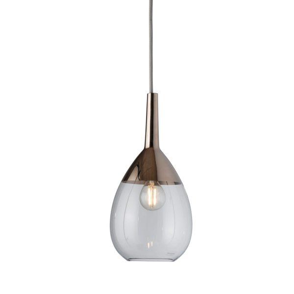 Lute Pendant Lamp, Clear / Platinum, 27cmH