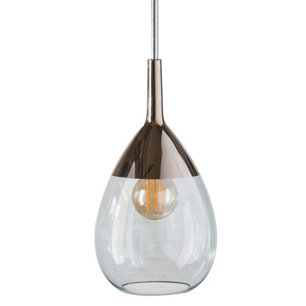 Lute Pendant Lamp, Topaz Blue / Platinum, 49cmH