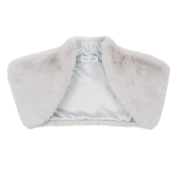 Mist Cloud Faux Fur Bolero