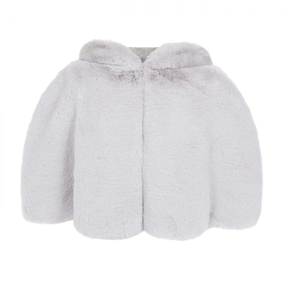 Mist Cloud Faux Fur Hooded Cape