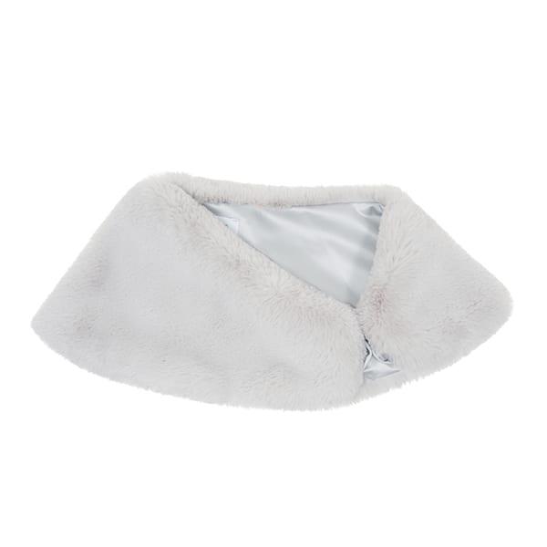 Mist Faux Fur Petite Bridal Wrap