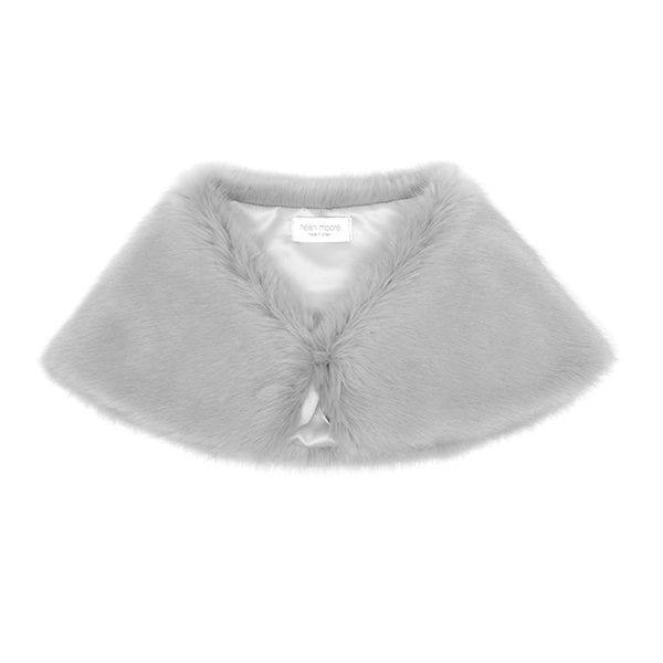 Opal Faux Fur Petite Bridal Wrap