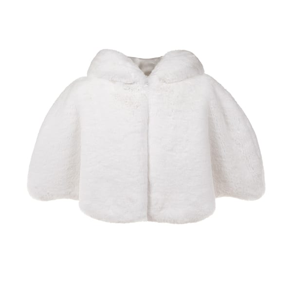 Orchid Cloud Faux Fur Hooded Cape