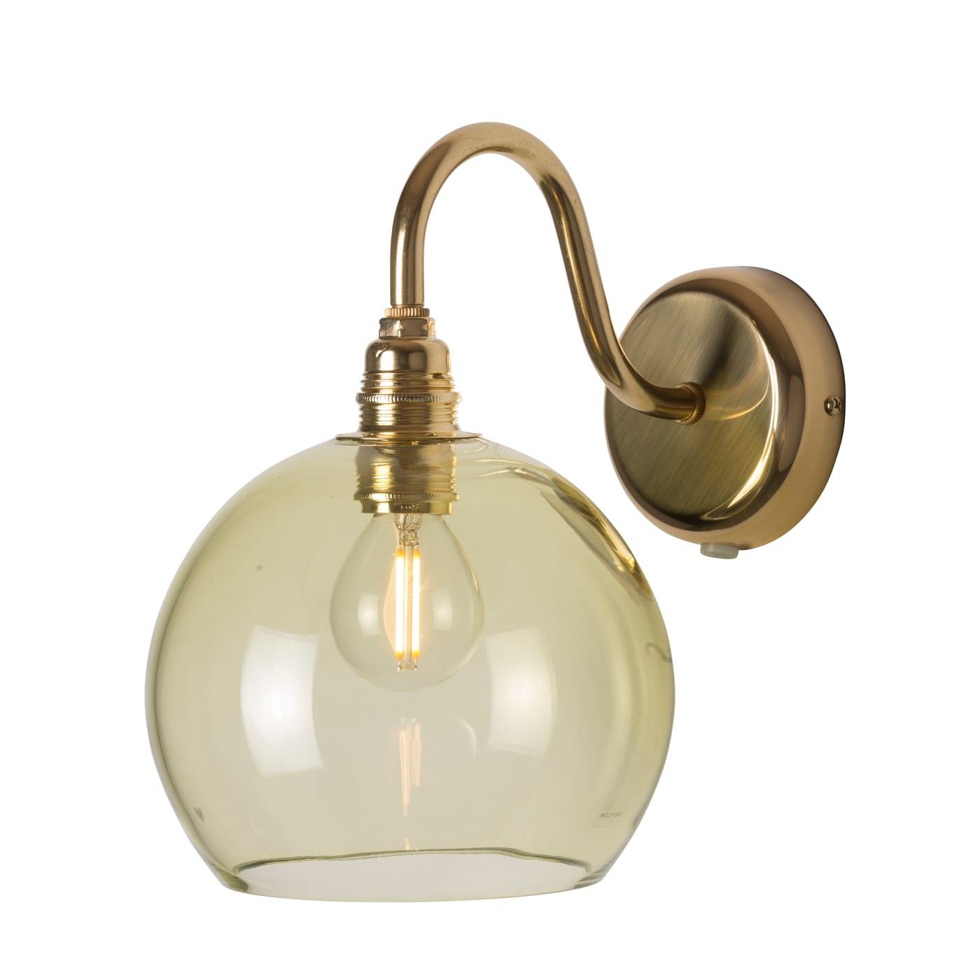 Rowan Wall Lamp, Olive, 15cm