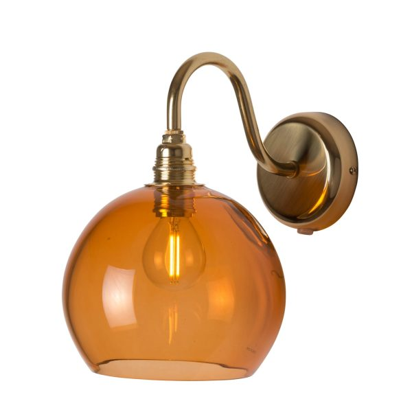 Rowan Wall Lamp, Rust, 15cm