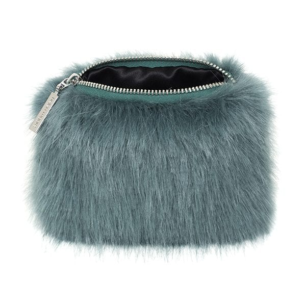 Sea Green Faux Fur Coin Purse
