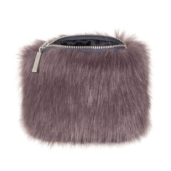 Steel Faux Fur Coin Purse