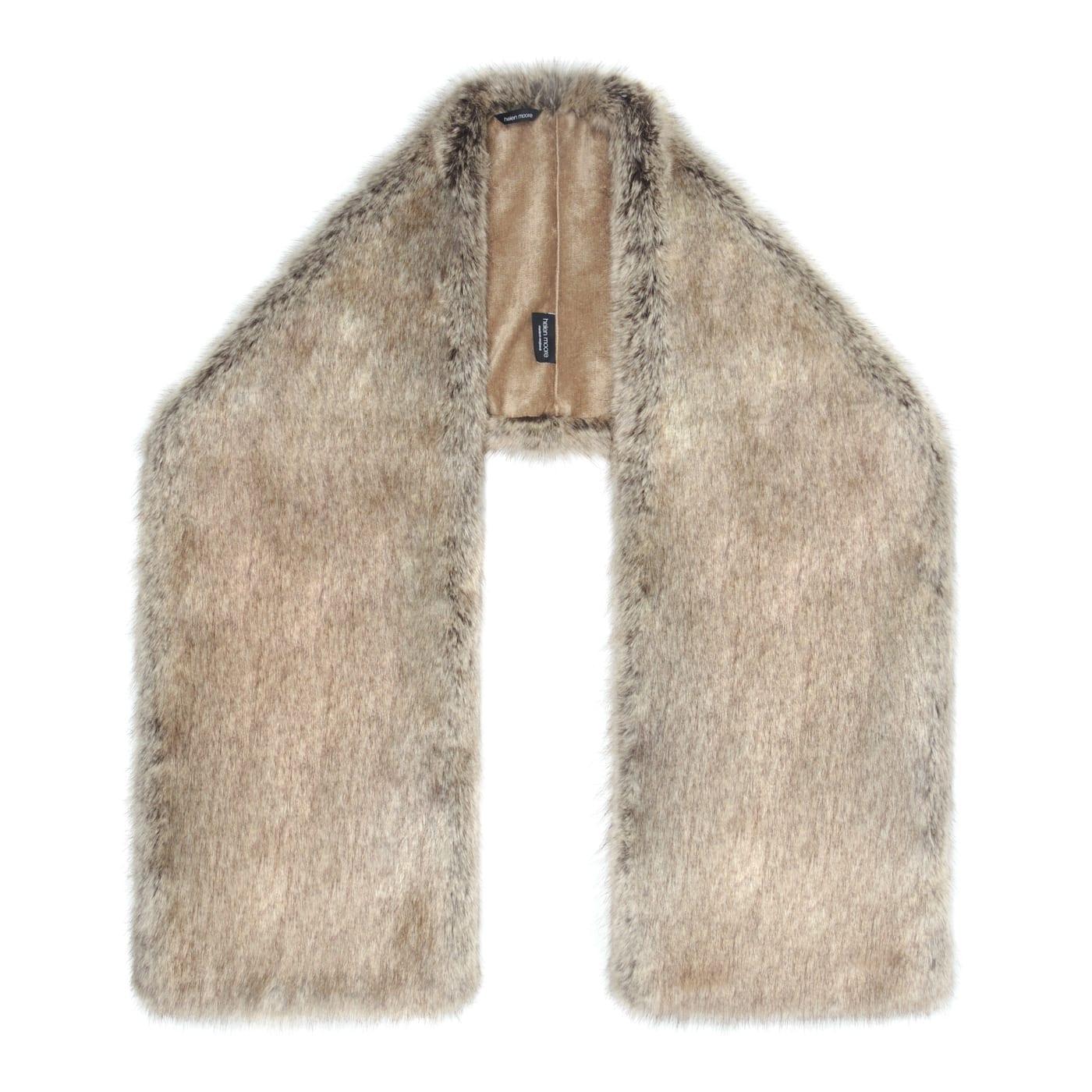 Truffle Faux Fur Square Stole