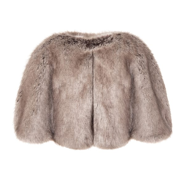 Truffle Faux Fur Cape
