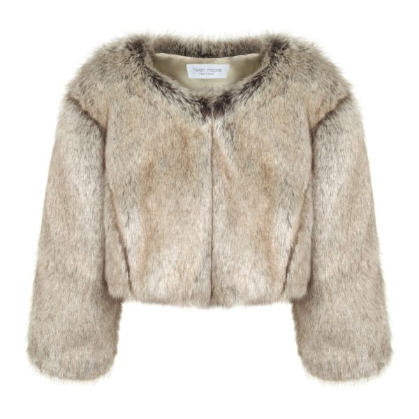 Truffle Faux Fur Jacket