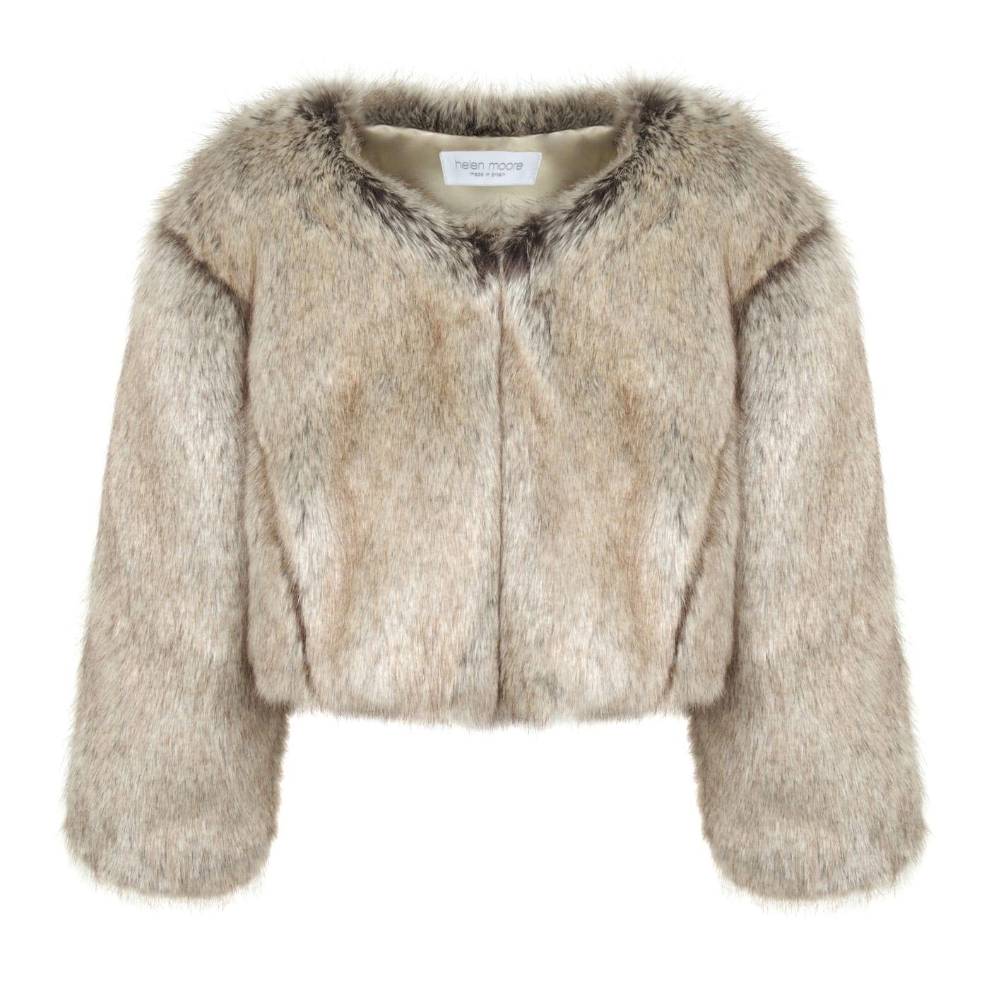 Truffle Faux Fur Jacket