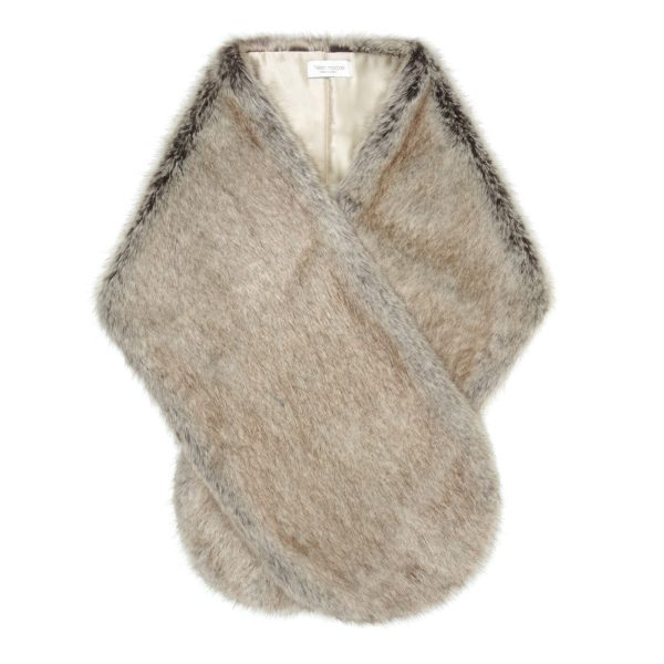Truffle Faux Fur Rounded Stole