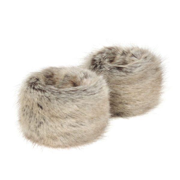 Truffle Faux Fur Wrist Warmers