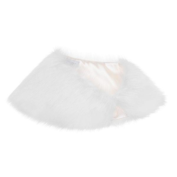 Whisper Faux Fur Petite Bridal Wrap