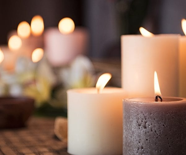 Wooden Top Candles
