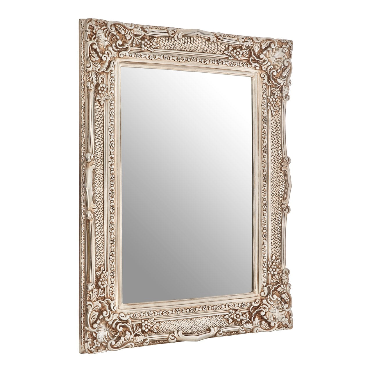 Cannes Champagne Corner Leaf Wall Mirror 1