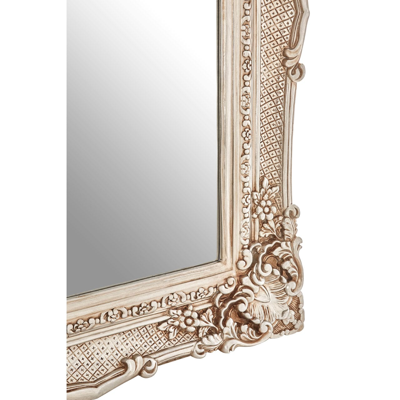 Cannes Champagne Corner Leaf Wall Mirror