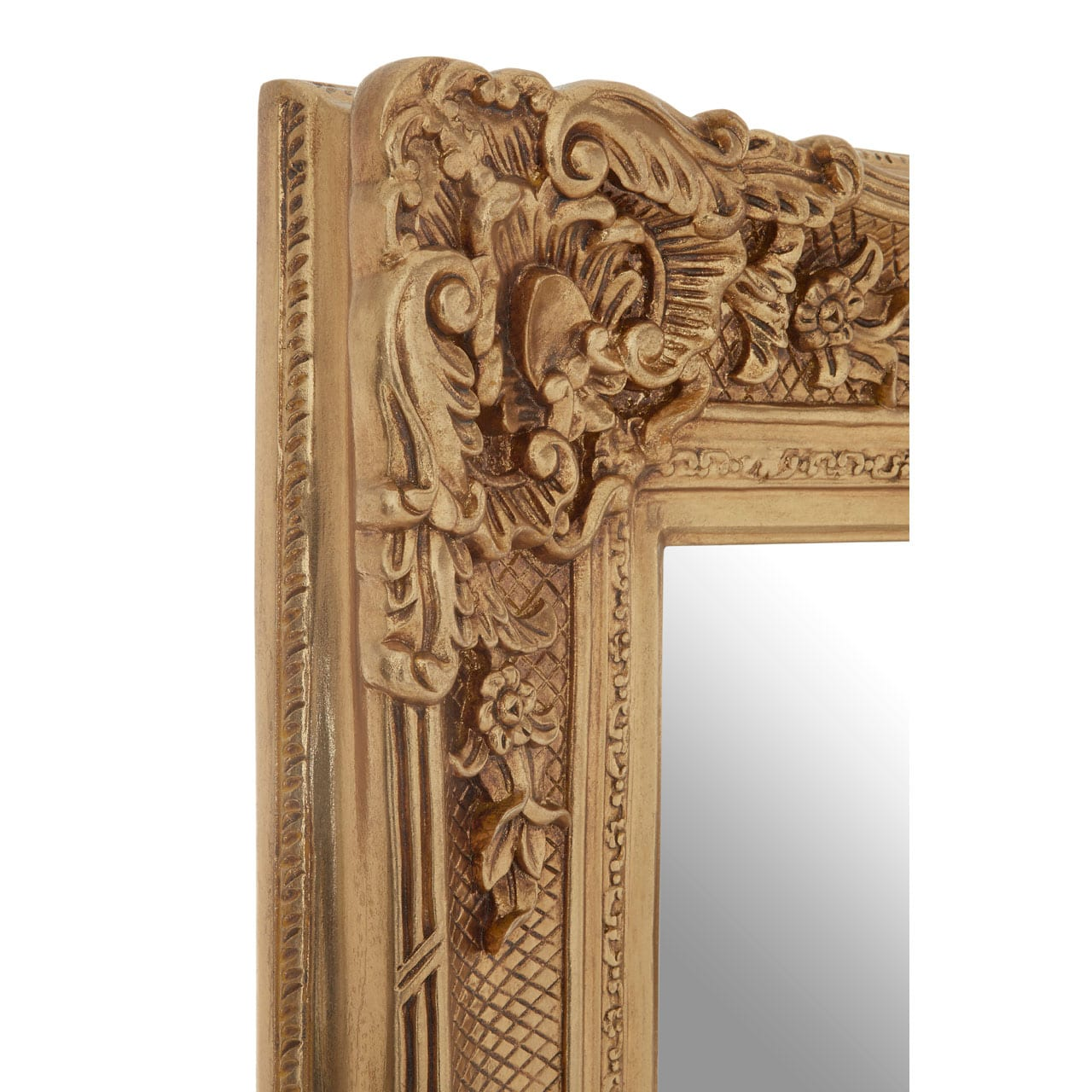 Cannes Gold Finish Carved Wall Mirror