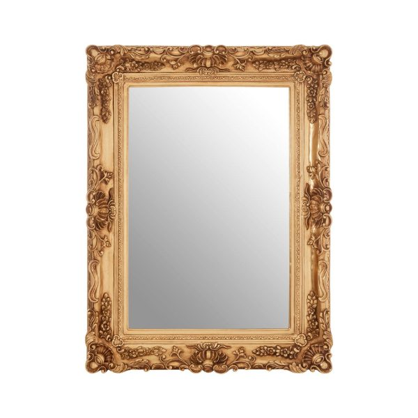 Cannes Gold Finish Corner Clam Wall Mirror