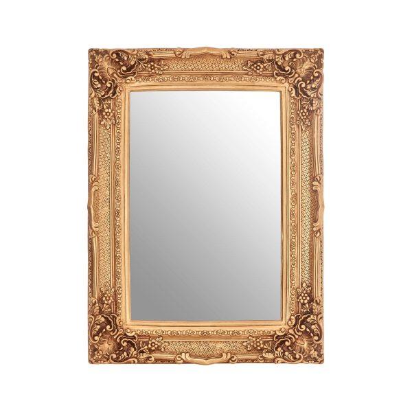 Cannes Gold Finish Corner Leaf Wall Mirror