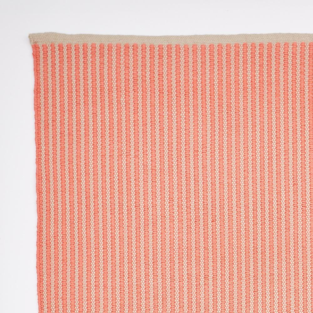 Coral Brighton Stripe Rug 2