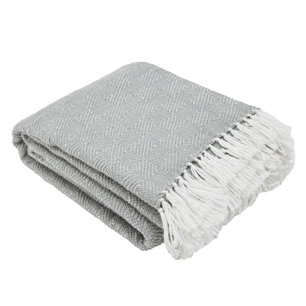 Diamond Dove Grey Blanket