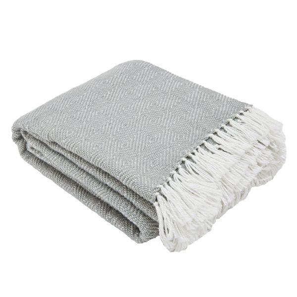 Diamond Dove Grey Blanket