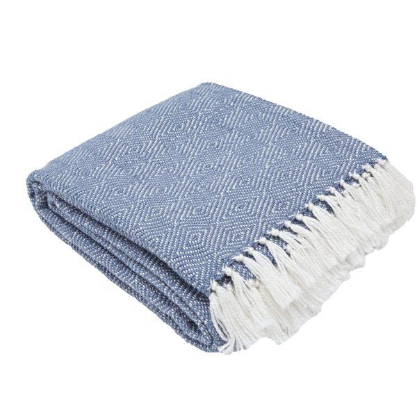 Diamond Navy Blanket