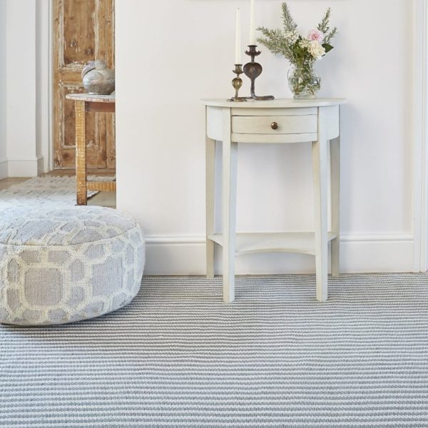 Dove Grey Brighton Stripe Rug